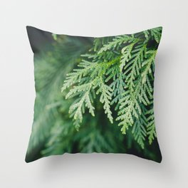 Christmas Green Throw Pillow