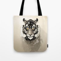 tiger Tote Bags featuring Tiger by Rafapasta