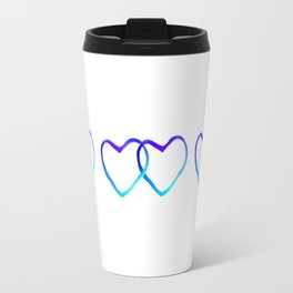 Blue Heart Travel Mug