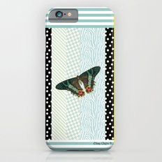 Mint butterfly iPhone 6s Slim Case