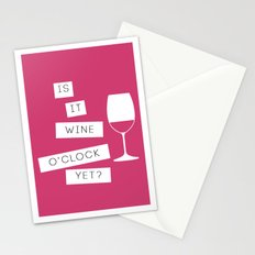 Is It Wine O'Clock Yet? Stationery Cards