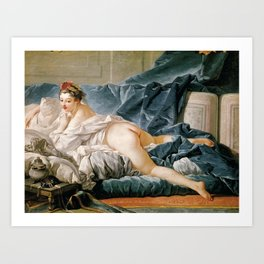 Francois Boucher's The Brunette Odalisque Art Print