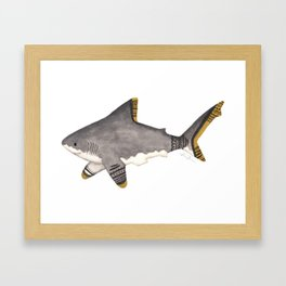 Tribal Shark Framed Art Print