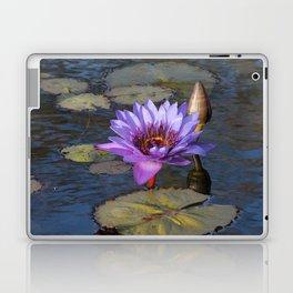 Purple Water Lily Laptop & iPad Skin
