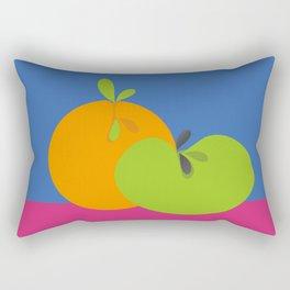 Orange and Apple Pop Art Fruit Rectangular Pillow