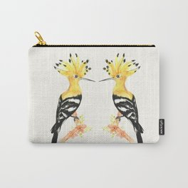 Hoopoe Bird in Watercolor Carry-All Pouch