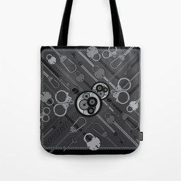 Locks & Chains Scarf Print Tote Bag