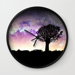 African galaxy skyline Wall Clock
