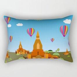 Temples in Cambodia Rectangular Pillow