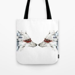 Twin Coyotes Tote Bag