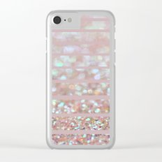 Bubbly Party and Stripes Clear iPhone Case