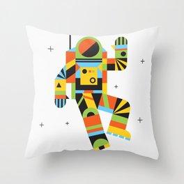Hello Spaceman Throw Pillow