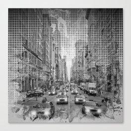 Graphic Art NEW YORK CITY Traffic | Monochrome Canvas Print