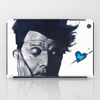 tom waits iPad Cases featuring Tom Waits - Blue Valentines by Brad Collins Art & Illustration