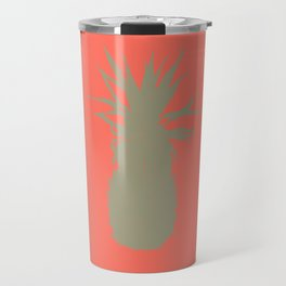 Coral Pineapple Travel Mug