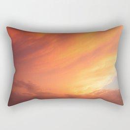 Celestial Fire Clouds Rectangular Pillow