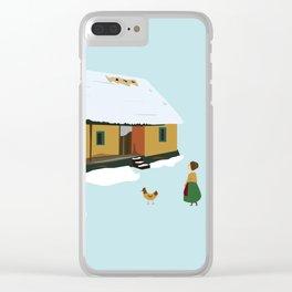 Winter nostalgia Clear iPhone Case
