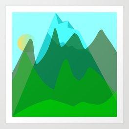 Alpine landscape Art Print