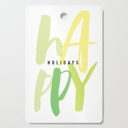 Happy Holidays Cutting Board