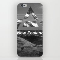new zealand iPhone & iPod Skins featuring New Zealand by ztwede