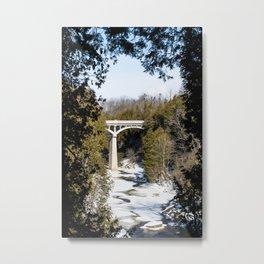 David Street Bridge in Winter Metal Print