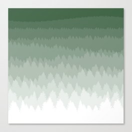 Green Ombré Forest Canvas Print