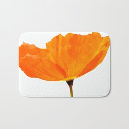 One And Only - Orange Poppy White Background #decor #society6 #buyart Bath Mat