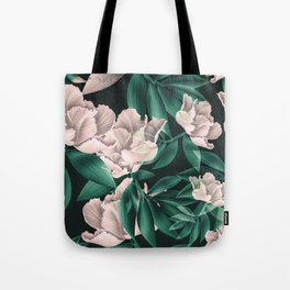 Blooming pink large flowers Tote Bag