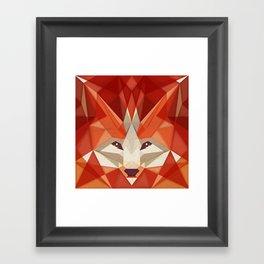 the glaring fox Framed Art Print