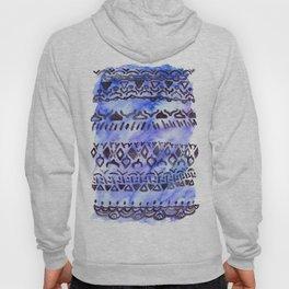 Tribal Pattern on Blue & Purple Watercolor Hoody