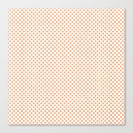 Peach Cobbler Polka Dots Canvas Print