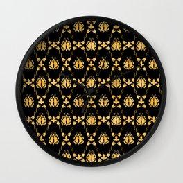 Classique Art Deco Gold Butterfly Pattern Wall Clock