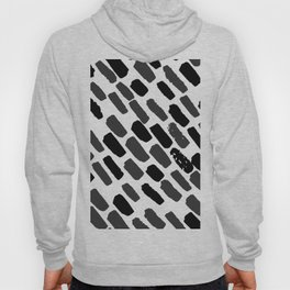 Oblique dots black and white Hoody