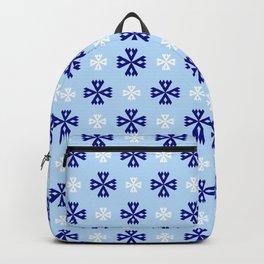 geometric flower 94 blue and white Backpack