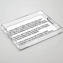 Anonymous Letter To Sammi Sweetheart Jersey Shore Acrylic Tray