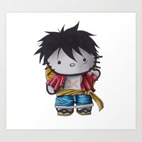 luffy Art Prints featuring Luffy by ADCArtAttack