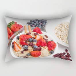 Oatmeal with Blueberries Strawberries Cranberries and Cinnamon Rectangular Pillow