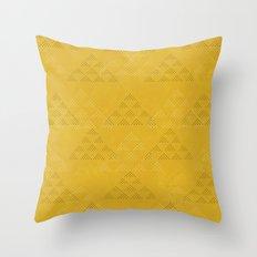 Polka Pyramids: Mustard Throw Pillow