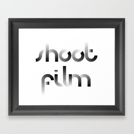 Shoot Film Framed Art Print
