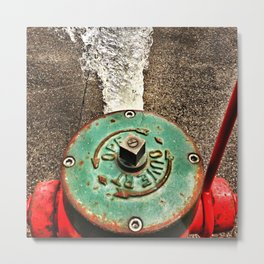 Running Fire Hydrant Metal Print
