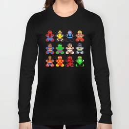 Superhero Gingerbread Man Long Sleeve T-shirt