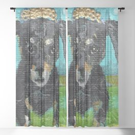 Cherish the Dachshund Sheer Curtain