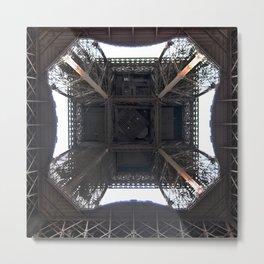 Under Eiffel HDR Metal Print