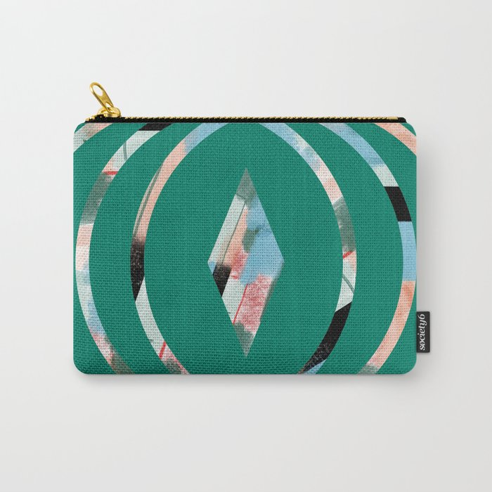 Abstract Brushstroke Circles Carry-All Pouch
