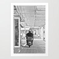 郵便配達  Yūbin haitatsu Art Print