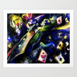 King of Cards Art Print