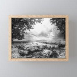 acrylic misty forest painting 2 acrbw Framed Mini Art Print