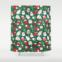 Christmas Cocoa Traditional Shower Curtain