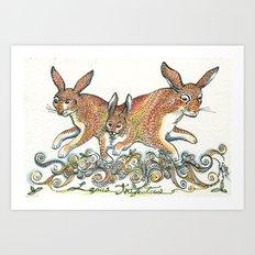 Lupus Trifectus  Art Print