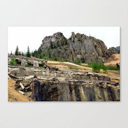 At the Base of the Sunnyside Mill at Eureka, on the Animas River Canvas Print